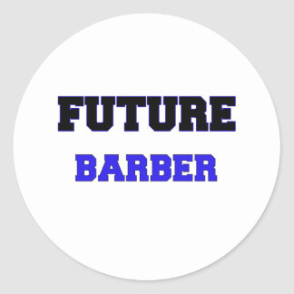 Future Barber Classic Round Sticker