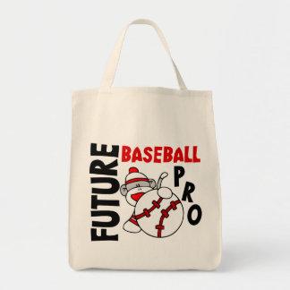Future Baseball Pro Sock Monkey Tote Bag