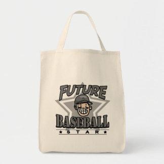 Future Baseball Star Black Helmet Grocery Tote Bag