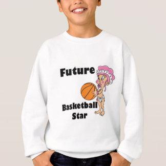 future basketball star baby girl sweatshirt