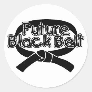 Future Black Belt (2) Round Sticker