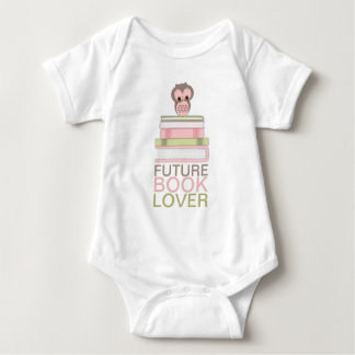Future Book Lover Baby Cute Owl Girl Shirt