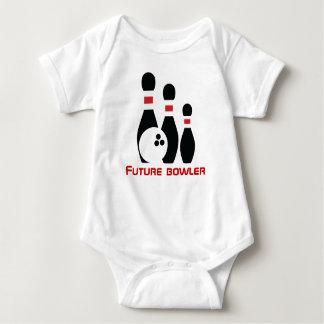 Future bowler, bowling ball and pins baby bodysuit