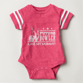 Future Bowler Like My Mommy Baby Bodysuit