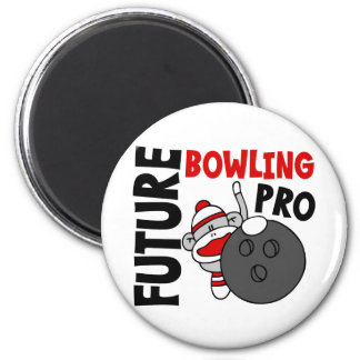 Future Bowling Pro Sock Monkey 6 Cm Round Magnet