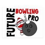 Future Bowling Pro Sock Monkey Postcard