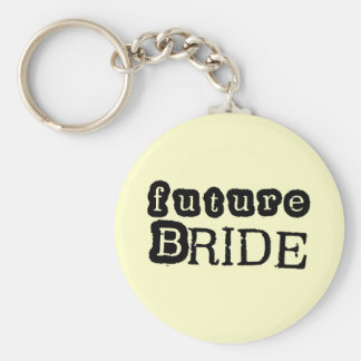 Future Bride Black Text Tshirts and Gifts Keychain
