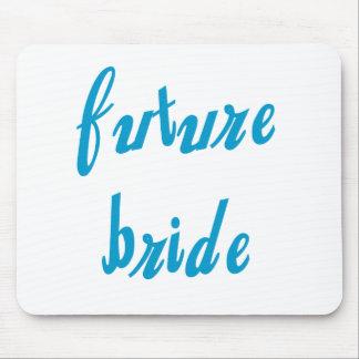 Future Bride Blue Text Mouse Pad