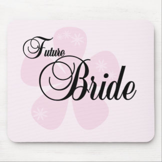 Future Bride Pink Flower Tshirts and Gifts Mousepad
