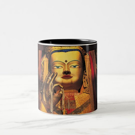 Future Buddha mug black/white