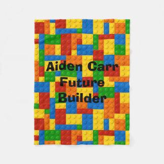 Future Builder Blocks - Fleece Baby Blanket