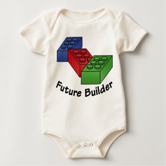 Future Builder - red-blue-green Building Blocks Baby Bodysuit
