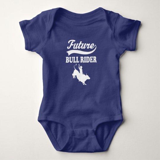 Future Bull Rider Rodeo Boys Baby Bodysuit