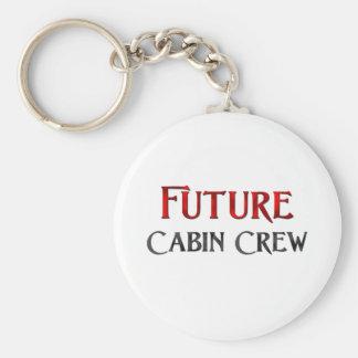 Future Cabin Crew Basic Round Button Key Ring