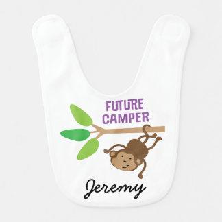 Future Camper Personalized Baby Bib