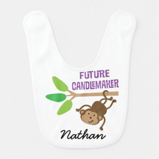 Future Candlemaker Personalized Baby Bib