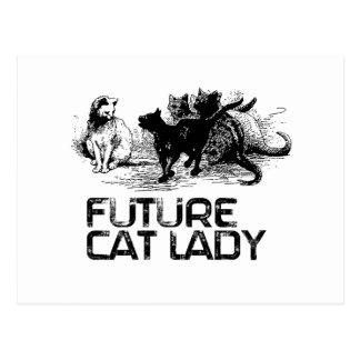 Future Cat lady - Cat Humor Post Card