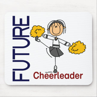 Future Cheerleader Stick Figure Mouse Pad