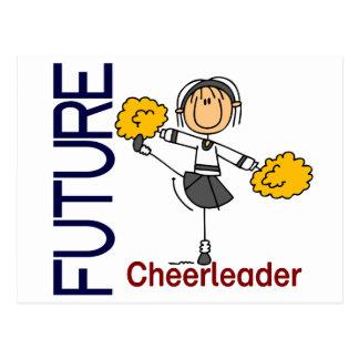 Future Cheerleader Stick Figure Postcard