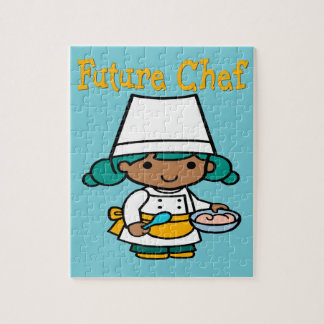 Future Chef Dark Skin When I Grow Up Jigsaw Puzzle
