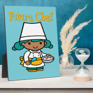 Future Chef Dark Skin When I Grow Up Plaque