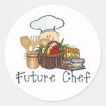 Future Chef Round Stickers