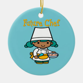 Future Chef When I Grow Up Round Ceramic Decoration