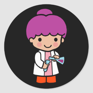 Future Chemist / Scientist Round Sticker