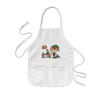 Future Christma Elf In Training Kids Apron