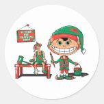 Future Christma Elf In Training Round Stickers