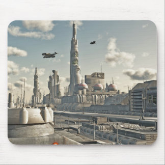 Future City Streets Mouse Pad
