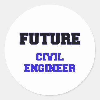 Future Civil Engineer Round Stickers