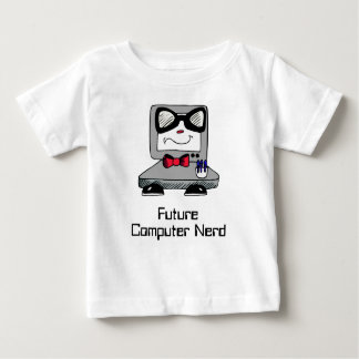 Future Computer Nerd Geek Shirt for Babies