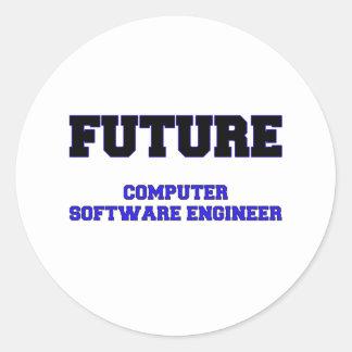Future Computer Software Engineer Round Stickers