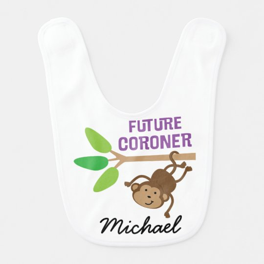 Future Coroner Personalised Baby Bib