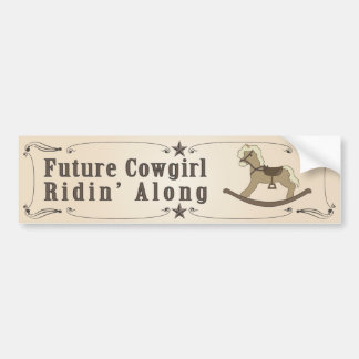 Future Cowgirl Bumper Sticker