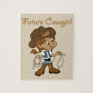 Future Cowgirl Dark Skin When I Grow Up Jigsaw Puzzle