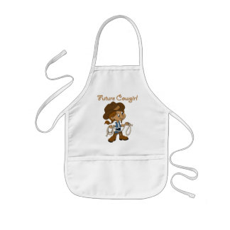 Future Cowgirl Dark Skin When I Grow Up Kids Apron