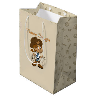 Future Cowgirl Dark Skin When I Grow Up Medium Gift Bag