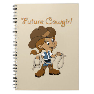 Future Cowgirl Dark Skin When I Grow Up Notebook