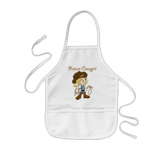 Future Cowgirl When I Grow Up Kids Apron