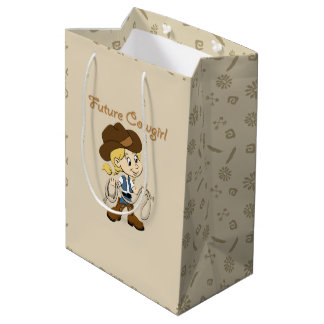 Future Cowgirl When I Grow Up Medium Gift Bag