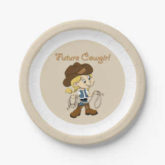 Future Cowgirl When I Grow Up Paper Plate