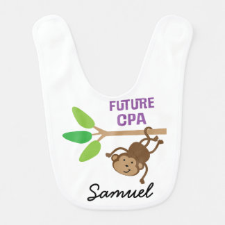 Future CPA Personalized Baby Bib