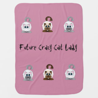 Future Crazy Cat Lady baby blanket