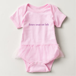 future crazy cat lady baby tutu cute baby bodysuit