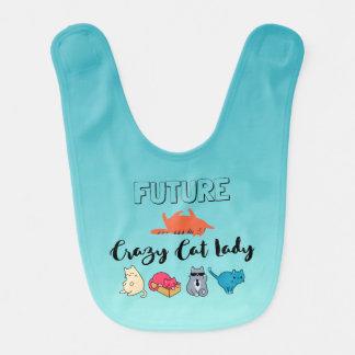 Future Crazy Cat Lady - Cute Kitty Illustration Baby Bib