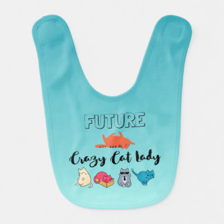 Future Crazy Cat Lady - Cute Kitty Illustration Bib