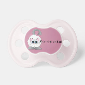 Future Crazy Cat Lady Dummy Baby Pacifiers