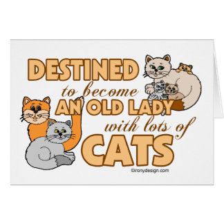 Future Crazy Cat Lady Funny Saying Design Card